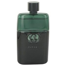 Gucci Guilty Black by Gucci Eau De Toilette Spray (Tester) 3 oz - Men