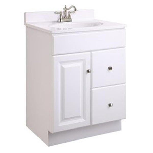 Wyndham White Semi Gloss Vanity Cabinet With 1 Door And Free Shipping Today 22093609