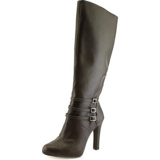 INC International Concepts Brookey Round Toe Synthetic Knee High Boot