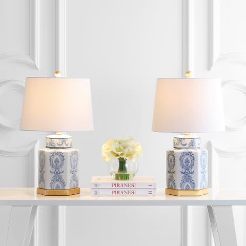 "SAFAVIEH Lighting 23-inch Bodin LED Table Lamp (Set of 2) - 14""x14""x23"""