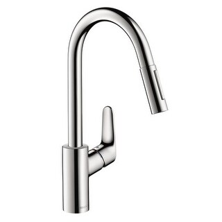 Hansgrohe 4505 Focus Pull-Down Kitchen Faucet with High-Arc Spout, Magnetic Docking & Toggle Spray Diverter - Includes Lifetime