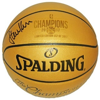 Steve Kerr Spalding Golden State Warriors 2017 Champions Gold Basketball LE17