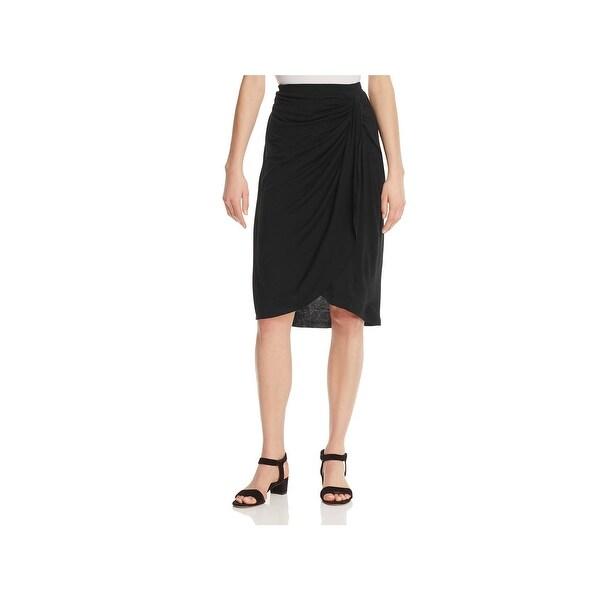 Shop Bobeau Womens Reiley A Line Skirt Gathered Faux Wrap