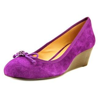 Tory Burch 31138216 Open Toe Leather Wedge Heel