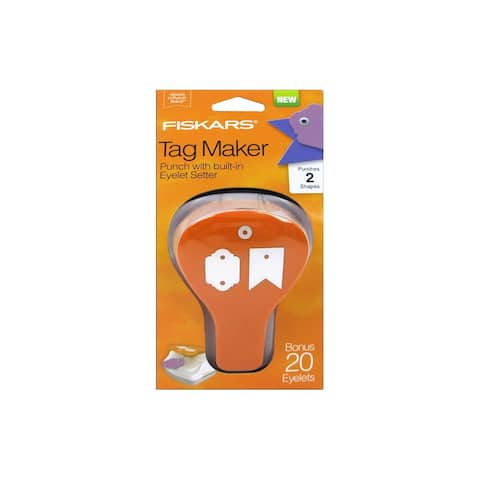 Fiskars Craft Punch Tag Maker II Banner/Artisan