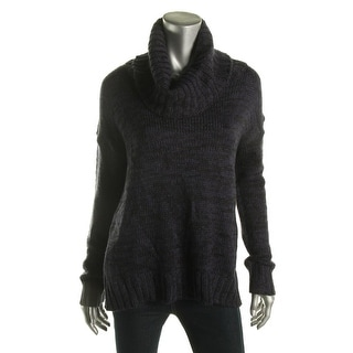 Say What? Womens Juniors High Low Cowl Neck Pullover Sweater