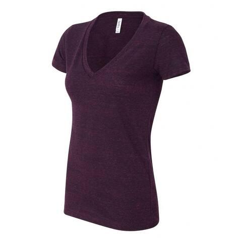 Bella Ladies Triblend Deep V-Neck T-Shirt