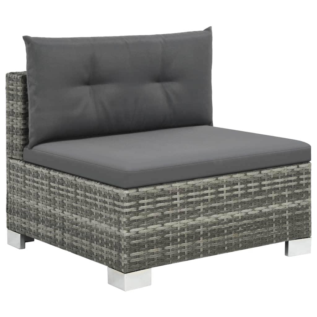 vidaXL Outdoor Sofa Set 28 Pieces Poly Rattan Wicker Lounge