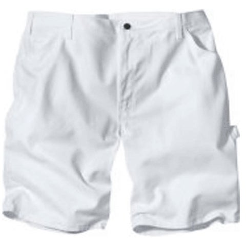 """Dickies DX400WH 34 Men's Painter's Shorts, 34"""", White"""