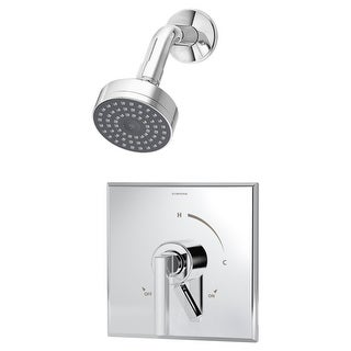 Symmons S-3601-1.5 Duro Shower Trim Package with Single Function Shower Head and Double Lever Handle - Includes Pressure