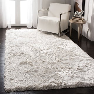 Link to Safavieh Handmade Ocean Shag Lyse Glam Solid Polyester Rug Similar Items in Shag Rugs