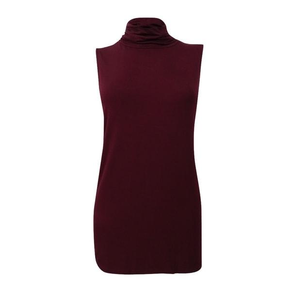 83d95e9addca Shop Alfani Women's Sleeveless Turtleneck Top - m - Free Shipping On ...