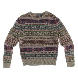 Polo Ralph Lauren Mens Wool Fairisle Pullover Sweater