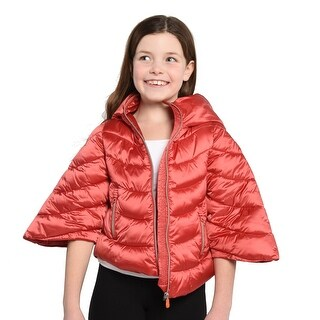 Save The Duck Lightweight Girls Bomber With Hood In Red