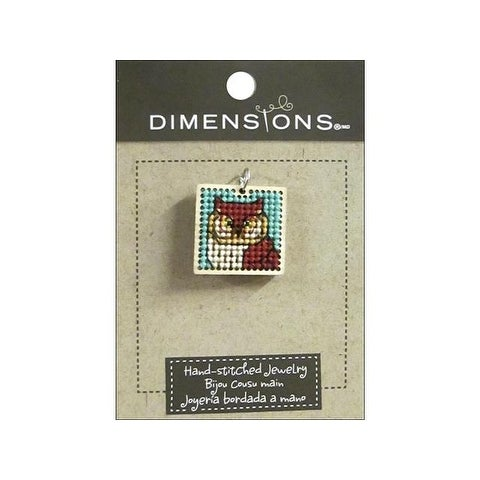 Dimensions Hand Stitched Jewelry Sq Owl Natural