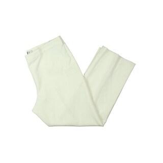 Kasper Womens Petites Dress Pants Classic Fit Flat Front Ivory 16P
