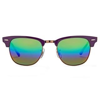 Link to Ray-Ban Clubmaster Mineral Flash Lenses Sunglasses 49 mm Violet Frame Similar Items in Women's Sunglasses