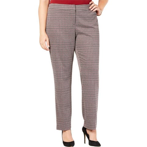 Nine West Womens Tapered Casual Trouser Pants
