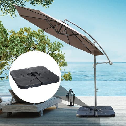 North Bend 4-piece Offset Patio Umbrella Base Weight Set by Havenside Home