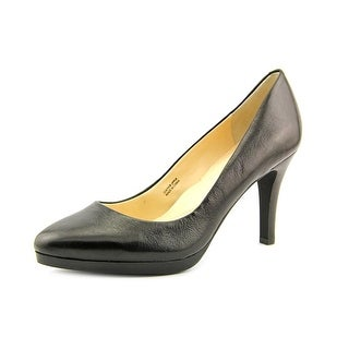 Tahari Gretta Women Round Toe Leather Black Heels