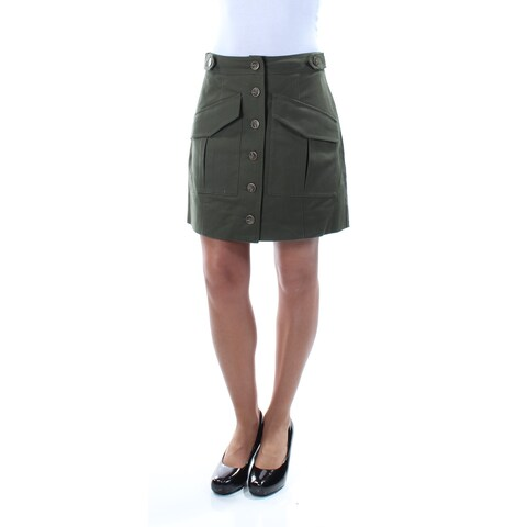 RACHEL ROY Womens Green Pocketed Above The Knee A-Line Skirt Size: 2