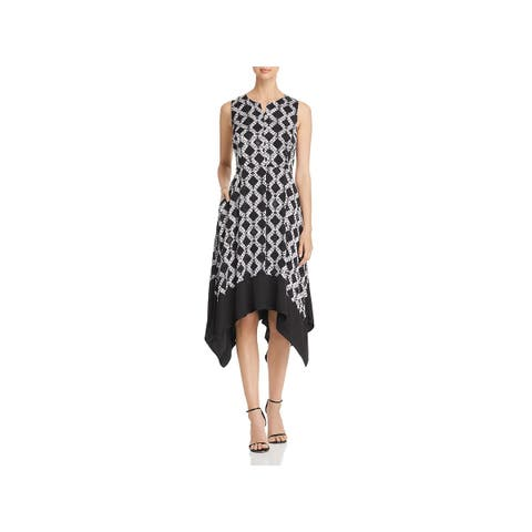 Donna Karan Womens Electric Summer Party Dress Printed Knee-Length