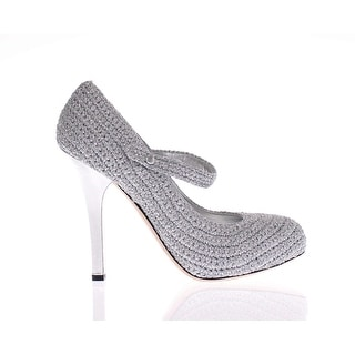 Dolce & Gabbana Silver Leather Mary Janes Pumps Shoes - 41