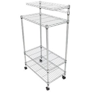 4 Layer Adjustable Kitchen Bakers Rack Shelf Microwave Oven Stand Storage Cart