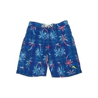 Tommy Bahama Men's Baja Palm Illusion Print Swim Trunks - kingdom blue