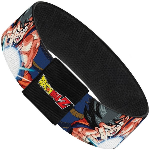 Goku Attack Pose Wisdom Kanji Blues Oranges Elastic Bracelet