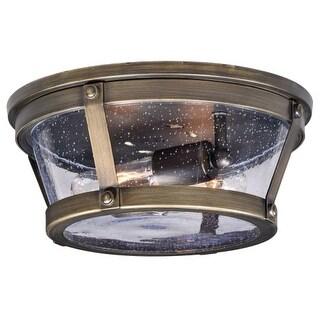 """Vaxcel Lighting T0342 Bruges 2 Light 12"""" Wide Outdoor Flush Mount Ceiling Fixtur"""