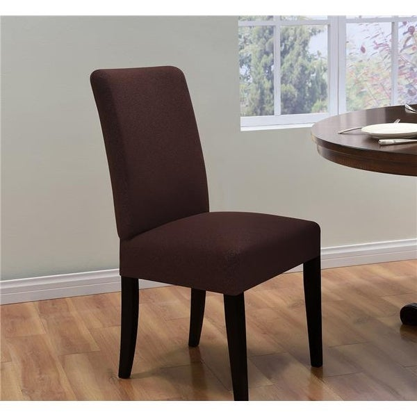 Madison Kathy Ireland Ingenue Dining Room Chair Cover, Brown