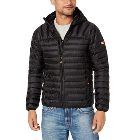 Superdry Mens Jacket Deep Hooded Front-Zip Puffer