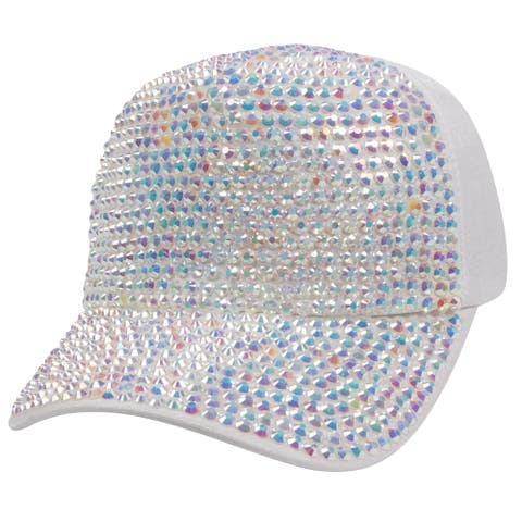 Top Headwear Two Tone Shiny Stone Denim Baseball Cap