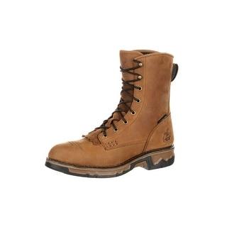 Georgia Boot Work Mens Carbo-Tec Waterproof CT Lacer Brown GB00115