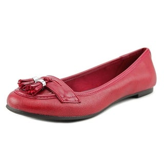 Chaps Dania Round Toe Leather Ballet Flats