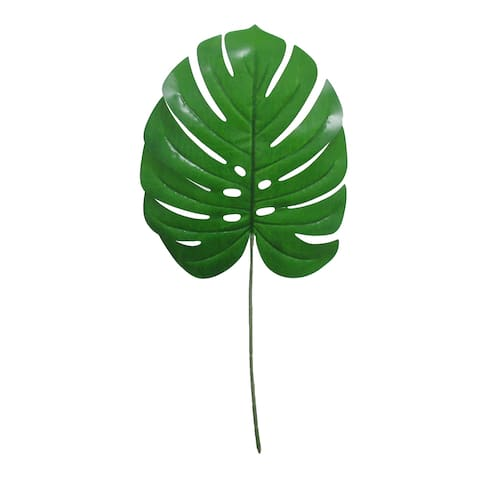 "Set of 8 Monstera Split Leaf Philodendron Stem Greenery Spray 27in - 27"" L x 11"" W x 0.25"" DP"