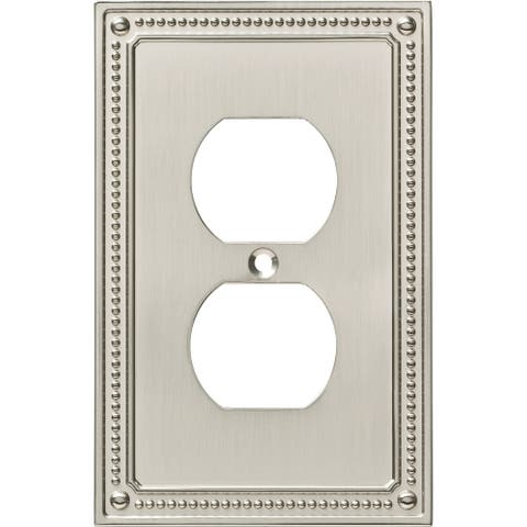 Franklin Brass W35059V-C Classic Beaded Single Duplex Outlet Wall
