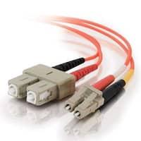 C2g / Cables To Go 33155 Lc-Sc 62.5/125 Om1 Duplex Multimode Pvc Fiber Optic Cable, Orange (2 Meter)