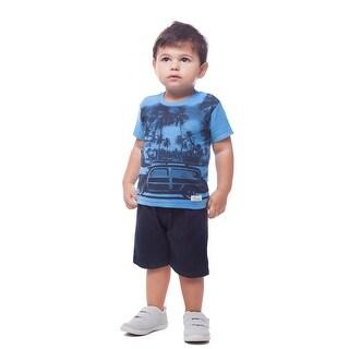 Pulla Bulla Baby Boys' Graphic Tee Short Sleeve Shirt