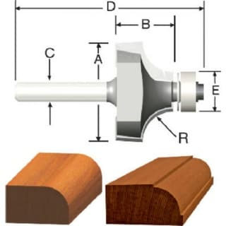 """Vermont American 23132 Carbide Tipped Silver Series Router Bit, 1"""" OD"""