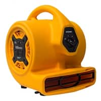 XPOWER P-130A 1/5 HP Mini Blower Fan with Built-In Power Outlets - YELLOW
