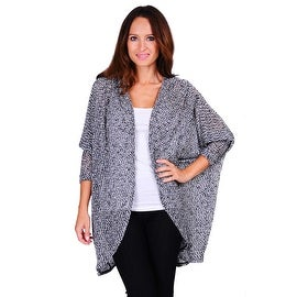 Simply Ravishing Women's 3/4 Sleeve Texture Knit Open Batwing Cardigan