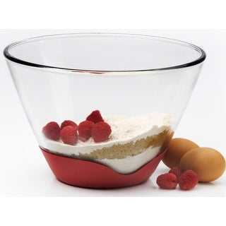 Anchor Hocking 91884 Mixing Bowl With No-Slip Base, 3 Quart