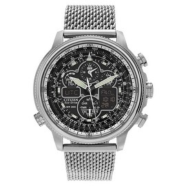 Citizen Men's 'Eco-Drive' JY8030-83E Stainless Steel Chronograph Mesh Bracelet Watch
