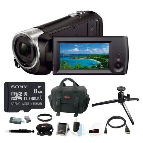 Sony HDRCX405 Handycam 1080p HD Camcorder w/ 8GB microSDHC Card & Software Bundle