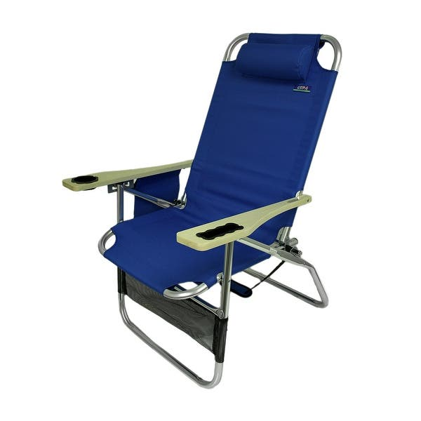 Astounding Shop Big Papa 4 Position Aluminum Folding Beach Chair W Home Interior And Landscaping Ferensignezvosmurscom
