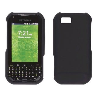 Two piece Soft Touch Snap-On Case for Motorola Titanium (Black)
