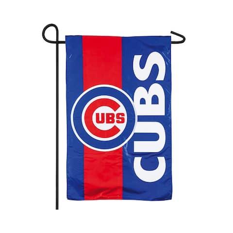 "Chicago Cubs 12.5"" x 18"" Decorative Team Flag"