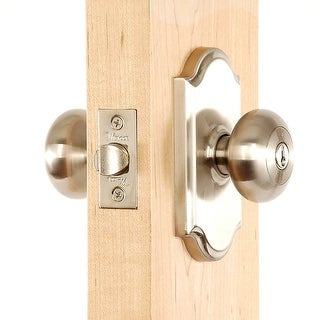 Weslock 1740I  Impresa Keyed Entry Door Knob with Premiere Rose from the Elegance Collection